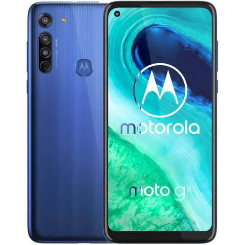 """Smartfon MOTOROLA G8 4/64GB 6.4"""" Niebieski PAHL0002PL"""