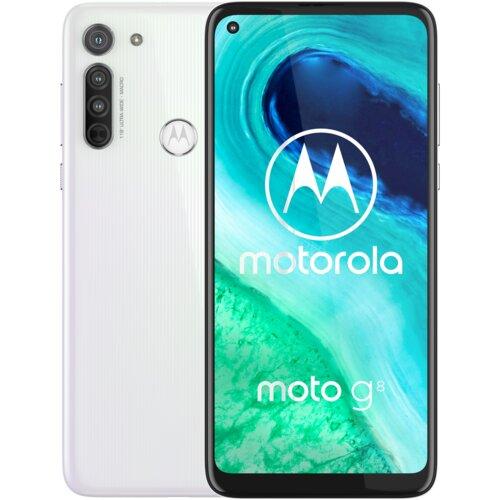 "Smartfon MOTOROLA G8 4/64GB 6.4"" Biały PAHL0003PL"
