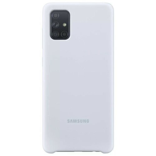 Etui SAMSUNG Silicone Cover do Galaxy A71 Srebrny