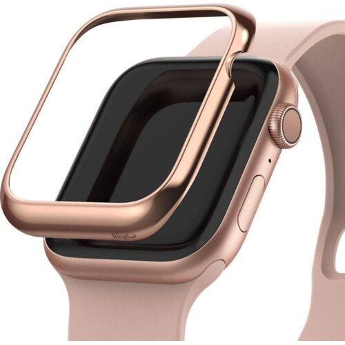 Etui RINGKE Bezel Styling do Apple Watch (44 mm) Różowo-złoty