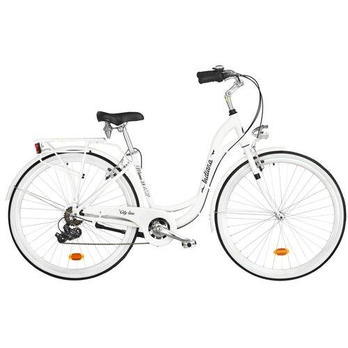 Rower miejski INDIANA Moena A7ZP 28 cali damski Biały