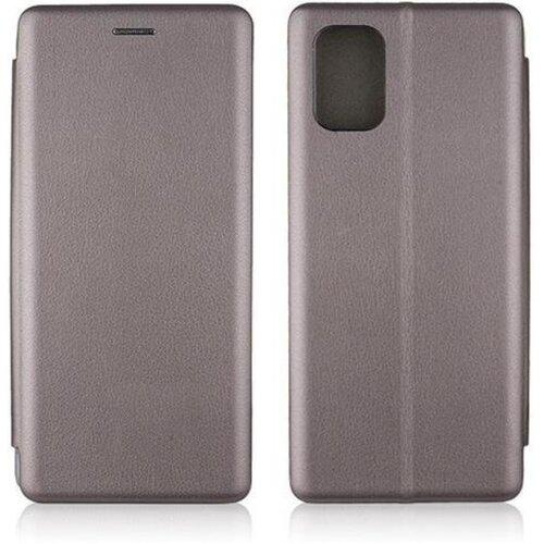 Etui BOOK MAGNETIC do Samsung Galaxy A71 Stalowy