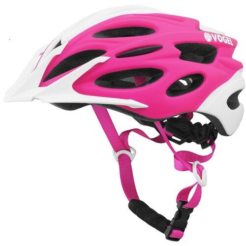 Kask rowerowy VÖGEL VKA 925P Różowo-biały dla Dzieci (rozmiar S/M)