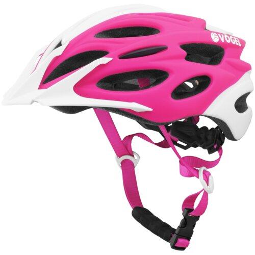 Kask rowerowy VÖGEL VKA-925P Różowo-biały dla Dzieci (rozmiar M/L)
