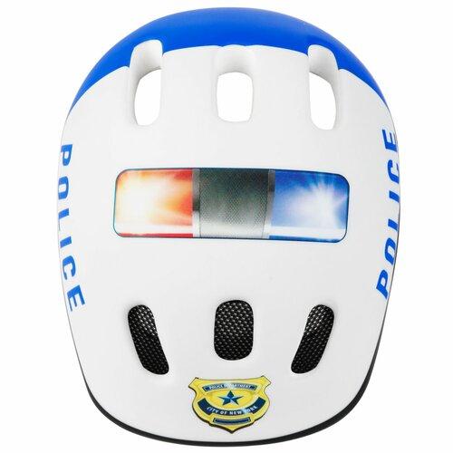 Kask rowerowy SPOKEY Police Biały dla Dzieci (rozmiar 44-48)