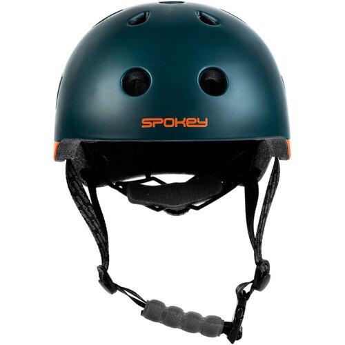 Kask rowerowy SPOKEY Pumptrack Zielono-pomarańczowy (rozmiar 54-58)
