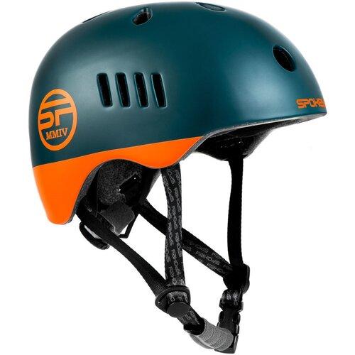 Kask rowerowy SPOKEY Pumptrack Zielono-pomarańczowy (rozmiar 58-61)