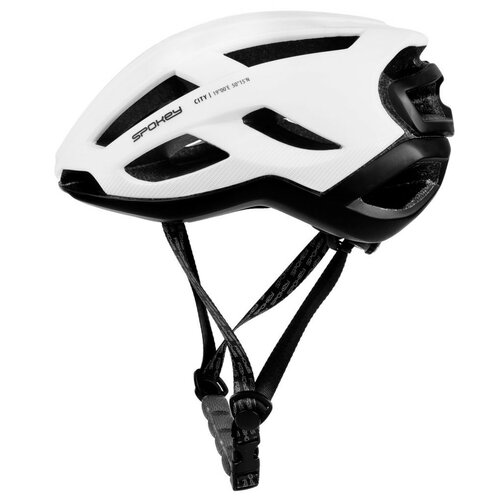 Kask rowerowy SPOKEY City Biało-czarny (rozmiar 55-58)