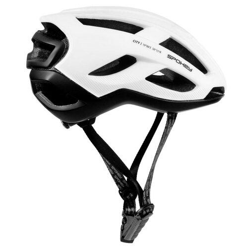 Kask rowerowy SPOKEY City Biało-czarny (rozmiar 58-61)