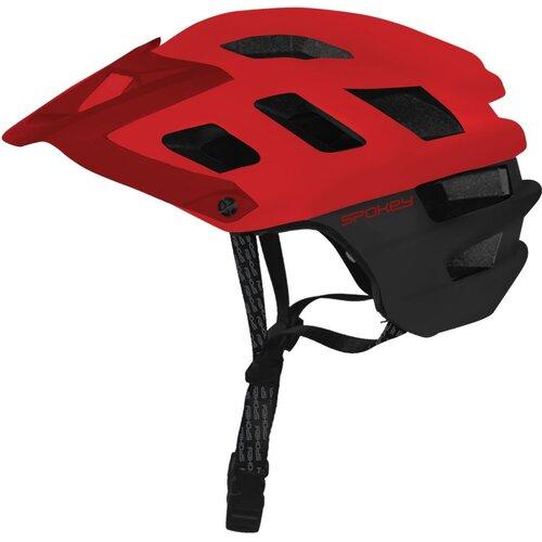 Kask rowerowy SPOKEY Singletrail Czerwono-czarny (rozmiar 58-61)