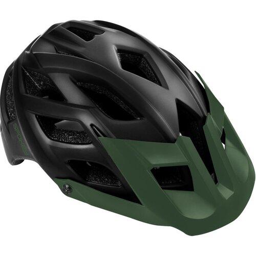 Kask rowerowy SPOKEY Singletrail Czarno-zielony (rozmiar 58-61)