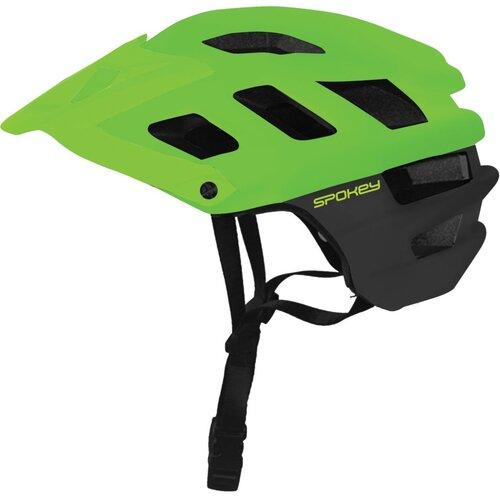 Kask rowerowy SPOKEY Singletrail Zielono-czarny (rozmiar 55-58)