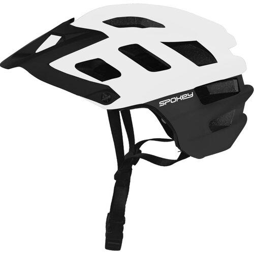 Kask rowerowy SPOKEY Singletrail Biało-czarny (rozmiar 55-58)