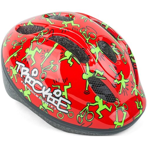 Kask rowerowy AUTHOR BICYCLES Trickie Czerwono-zielony dla Dzieci (rozmiar 49-56 cm)