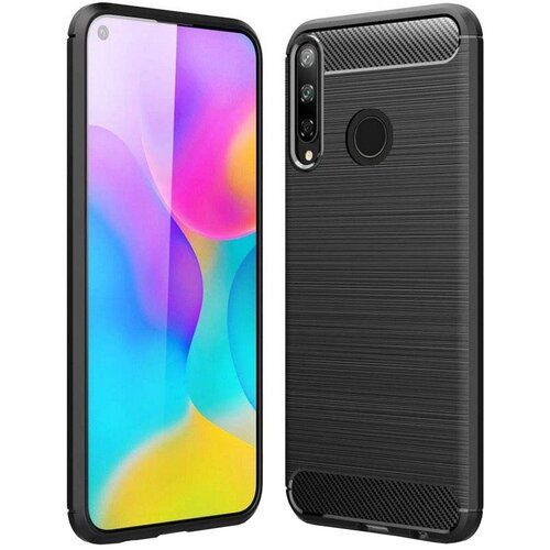 Etui TECH-PROTECT TPUCarbon do Huawei P40 Lite E Czarny