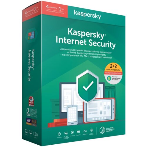 Antywirus KASPERSKY Internet Security 2 URZĄDZENIA 1 ROK Kod aktywacyjny