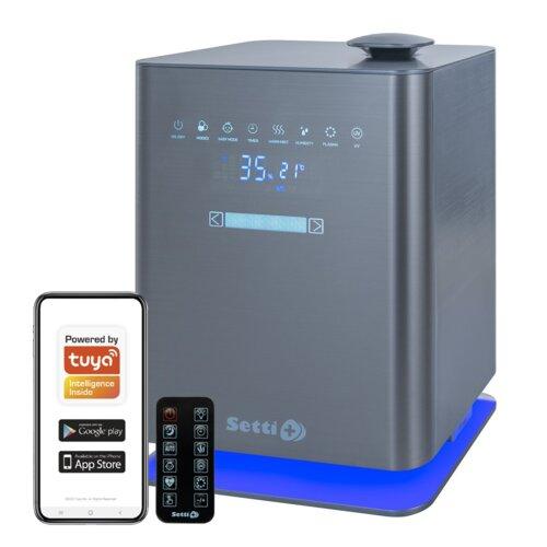 Nawilżacz SETTI+ Smart AH900 WiFi higrometr oczyszczanie powietrza lampa UV