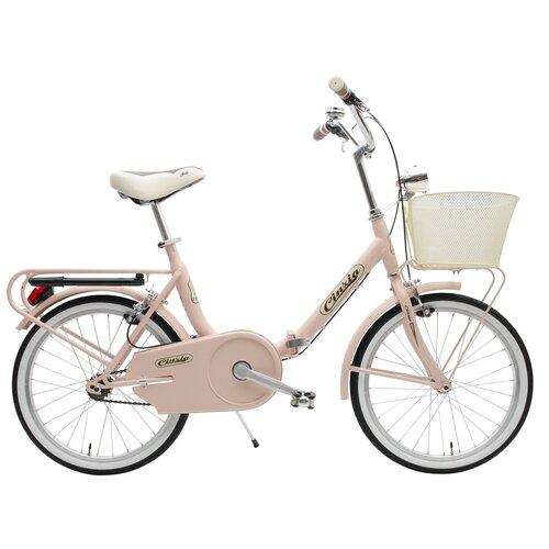 Rower miejski z koszykiem CINZIA Smarty 1B 20 cali damski Różowy
