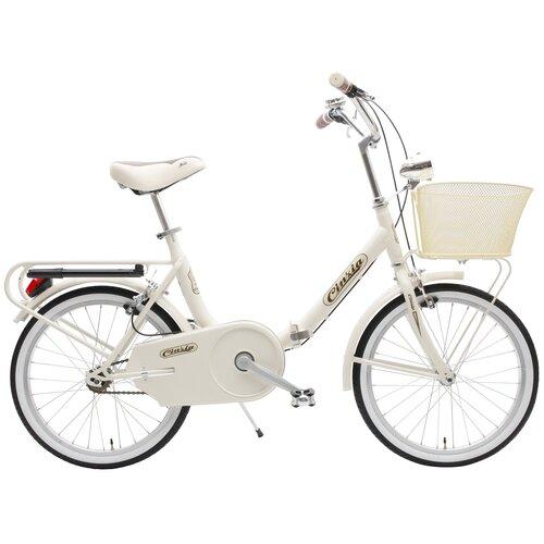 Rower miejski z koszykiem CINZIA Smarty 1B 20 cali damski Kremowy