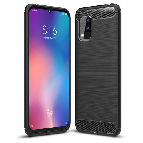 Etui TECH-PROTECT TPUCarbon do Xiaomi Mi 10 Lite Czarny