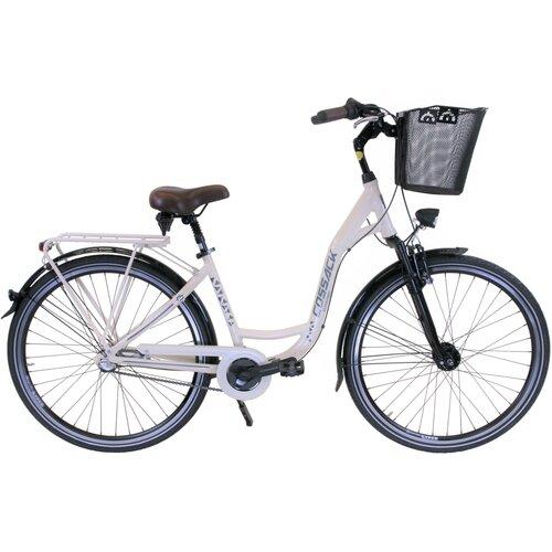 Rower miejski z koszykiem COSSACK Economic City Amdy 3B 28 cali damski Kremowy