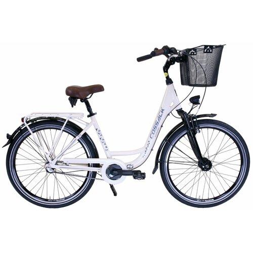 Rower miejski z koszykiem COSSACK Economic City Amdy 3B 26 cali damski Kremowy