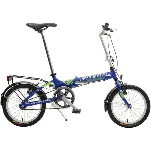 Rower miejski ATALA Folding 1B 16 cali damski Niebiesko-zielony