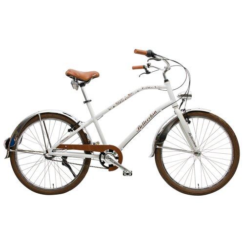 Rower miejski BOTTECCHIA Urban Town 3B 26 cali damski Biały mat