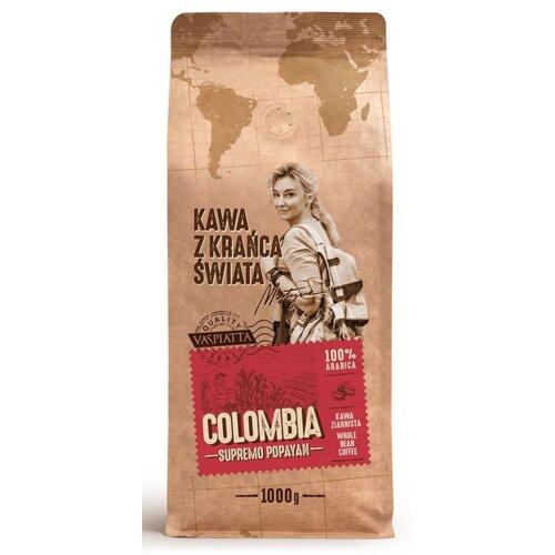 Kawa ziarnista VASPIATTA Z Krańca Świata Colombia Supremo Popayan Arabica Martyna Wojciechowska 1 kg
