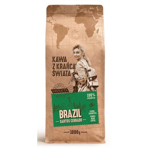Kawa ziarnista VASPIATTA Z Krańca Świata Brazil Santos Cerrado Arabica Martyna Wojciechowska 1 kg