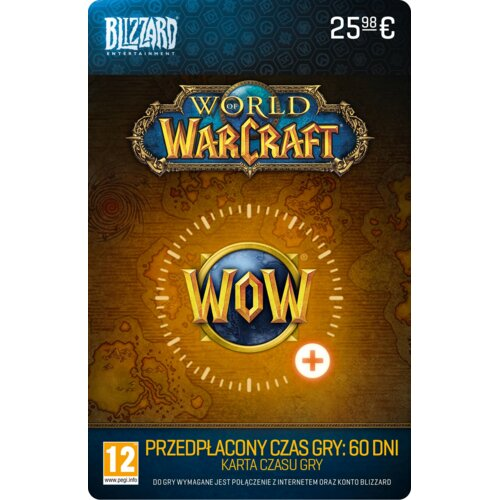 Karta przedpłacona na 60 dni gry World of Warcraft