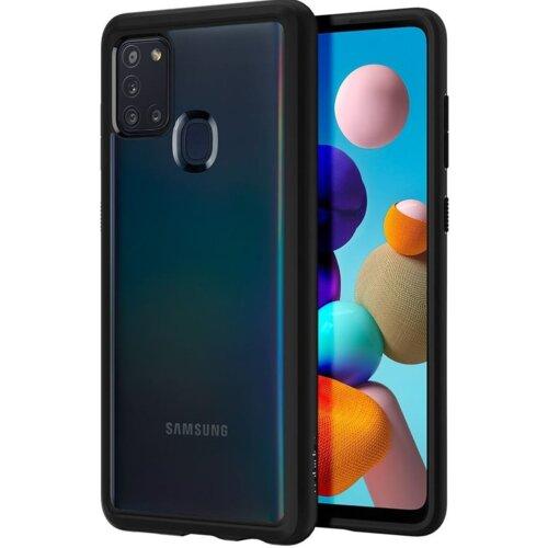 Etui SPIGEN Ultra Hybrid do Samsung Galaxy A21s Czarny