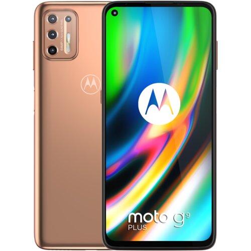 """Smartfon MOTOROLA Moto G9 Plus 4/128GB 6.81"""" Różowo-złoty PAKM0013PL"""