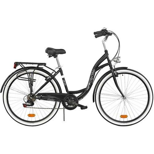 Rower miejski DAWSTAR Citybike S6B 28 cali damski Czarny