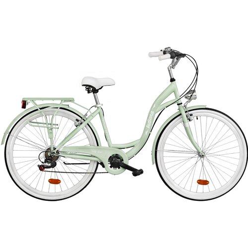 Rower miejski INDIANA Moena 6B 28 cali damski Miętowy
