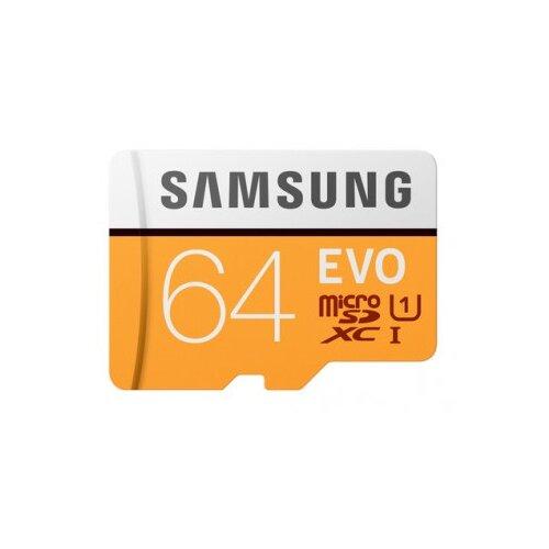 Karta pamięci SAMSUNG EVO 64GB MicroSD MB-MP64HA UHS-I + Adapter