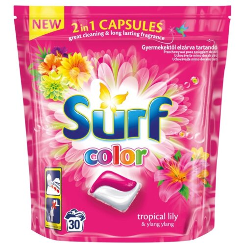 Kapsułki do prania SURF 2 in 1 Tropikalna lilia 30 szt.