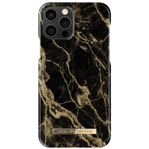 Etui IDEAL OF SWEDEN Fashion Case do Apple iPhone 12/12 Pro Golden Smoke Marble