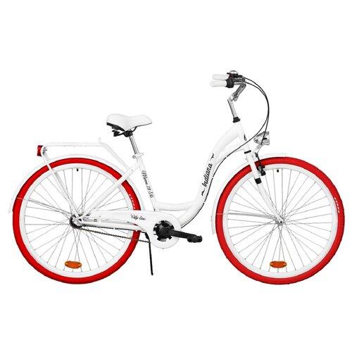 Rower miejski INDIANA Moena OS3B 28 cali damski Biały