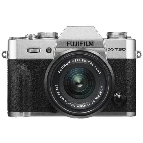 Aparat FUJIFILM X-T30 Srebrny + Obiektyw XC 15-45 mm f/3.5-5.6 OIS PZ