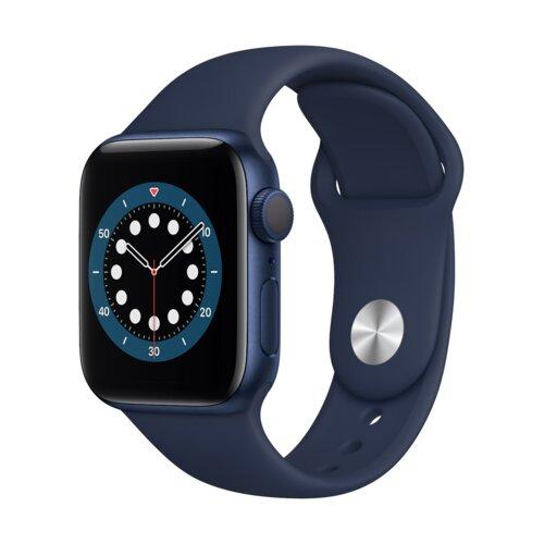 APPLE Watch 6 40mm (Niebieski z opaską sportową w kolorze niebieskim)