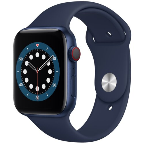 APPLE Watch 6 Cellular 44mm (Niebieski z opaską sportową w kolorze niebieskim)