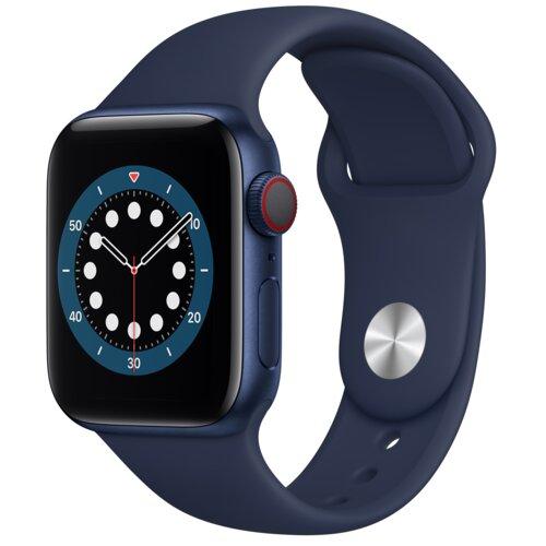 APPLE Watch 6 Cellular 40mm (Niebieski z opaską sportową w kolorze niebieskim)
