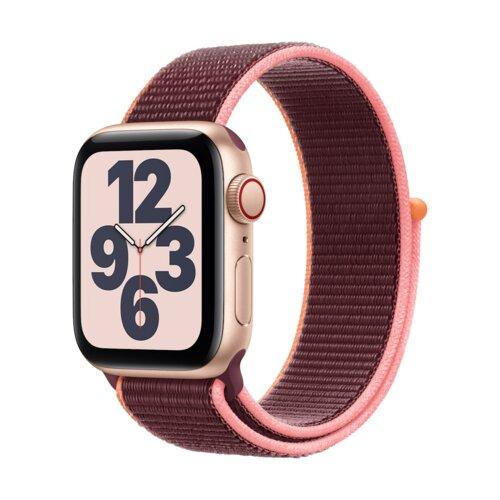 APPLE Watch SE Cellular 40mm (Złoty z opaską sportową w kolorze śliwkowym)