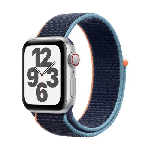 APPLE Watch SE Cellular 44mm (Srebrny z opaską sportową w kolorze niebieskim)