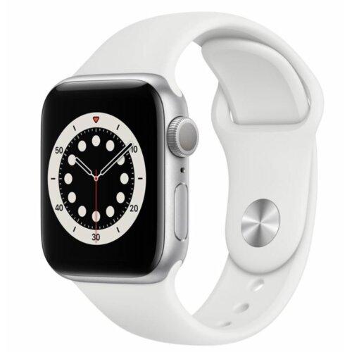 APPLE Watch 6 40mm (Srebrny z opaską sportową w kolorze białym)