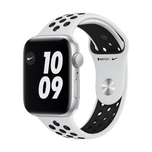 APPLE Watch SE Nike 44mm (Srebrny z opaską sportową w kolorze czarnym)
