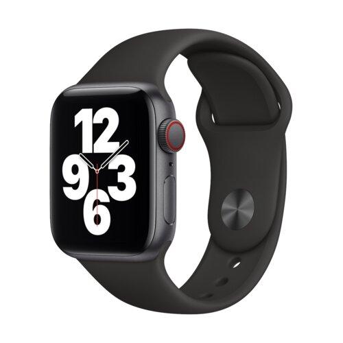 APPLE Watch SE Cellular 40mm (Gwiezdna szarość z opaską sportową w kolorze czarnym)