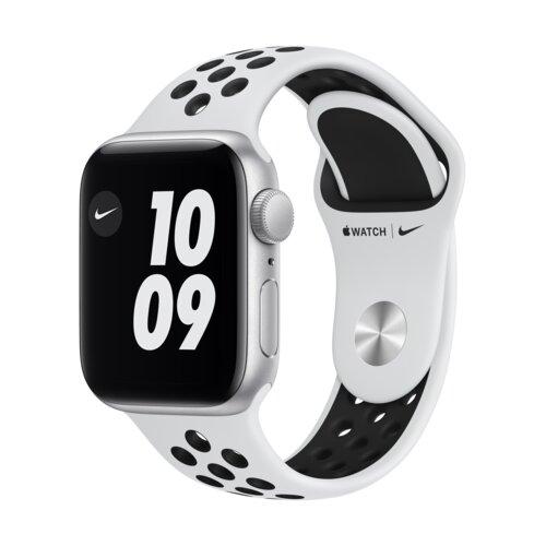 APPLE Watch SE Nike 40mm (Srebrny z opaską sportową w kolorze czarnym)