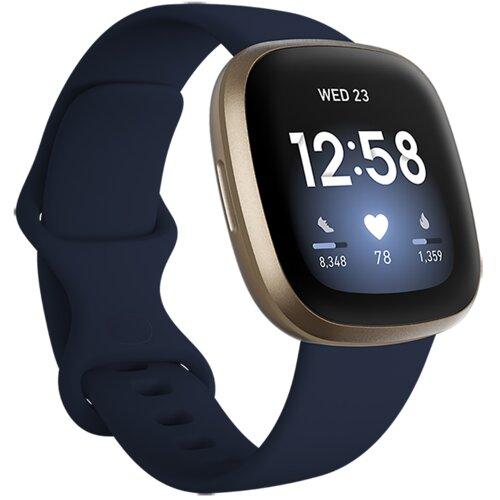 Smartwatch FITBIT Versa 3 Niebiesko-złoty
